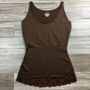 SPANX Smoothing Lace Scoop Neck Tank